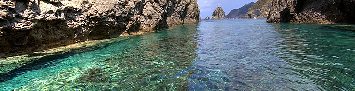 Pontine Islands beautiful summer day Italian holiday ferry tours