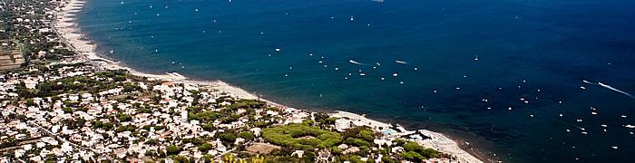 San Felice Circeo evening close Sabaudia summer beach private house