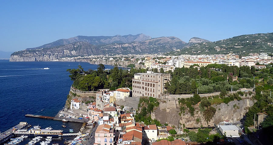 Sorrento day trip Italian family summer beach Sabaudia accommodation